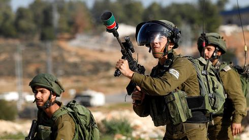IDF troops during West Bank riots