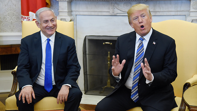 Benjamin Netanyahu and Donald Trump in the White House in 2018
