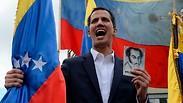 מנהיג האופוזיציה ב ונצואלה חואן גוואידו ב הפגנה ב קראקס