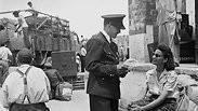 Police officers in the immigrants' camps