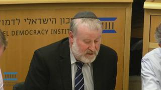 היועץ המשפטי לממשלה אביחי מנדלבליט באירוע במכון הישראלי לדמוקרטיה