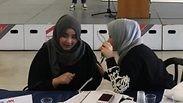 sraeli and Palestinian students engage in mock peace talks at Haifa University