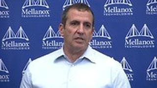 איל וולדמן מלאנוקס במסיבת עיתונאים