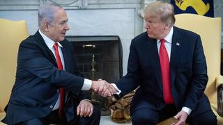Donald Trump and Benjamin Netanyahu at the White House