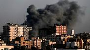 IDF air strikes in the Gaza Strip during the recent flare-up