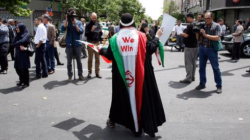An anti-U.S. protester in Tehran