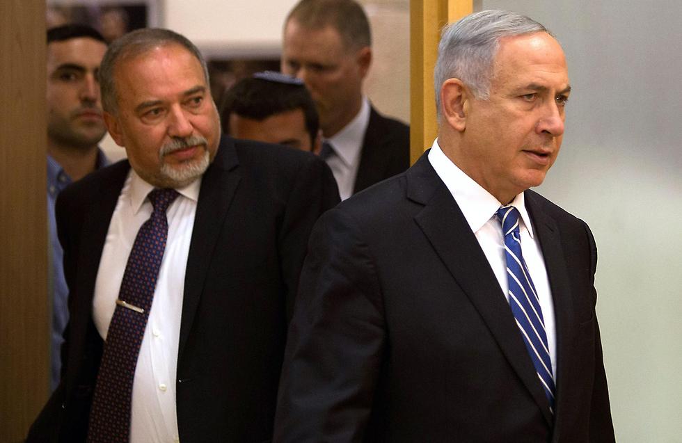 Avigdor Liberman and Benjamin Netanyahu