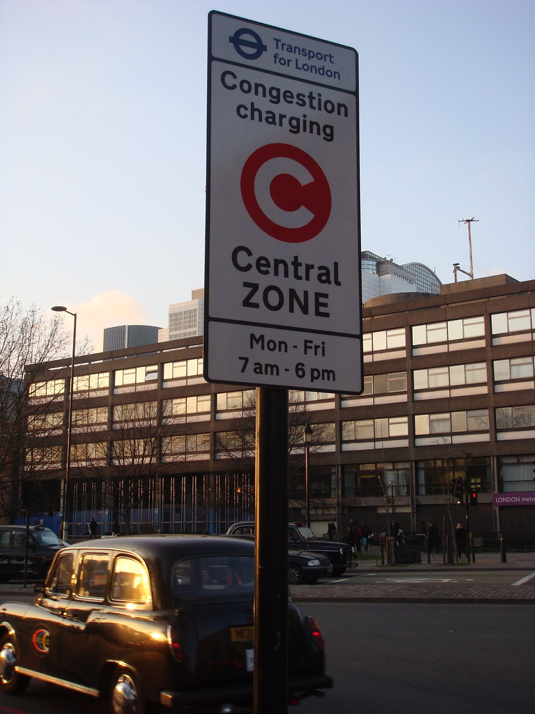 Congestion Charge אזור התשלום בבריטניה