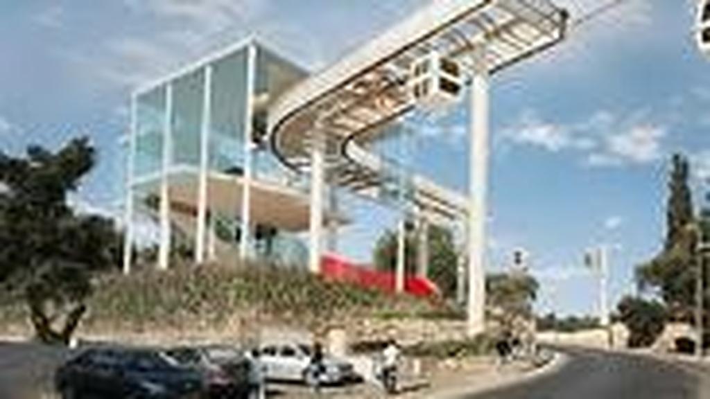 הדמיית תחנת הרכבל לכותל בירושלים