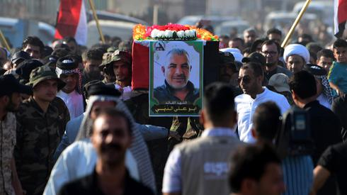 בגדד עיראק הלוויה של אבו עלי א דבי חיזבאללה