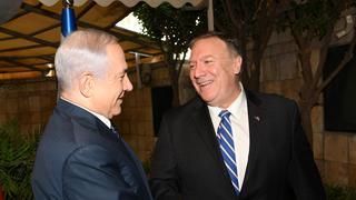 Prime Minister Benjamin Netanyahu and U.S. Secretary of State Mike Pompeo meeting in Jerusalem in October