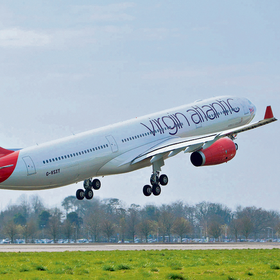 התחרות על החרדים: מטוס של חברת וירג'ין