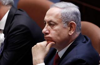 Benjamin Netanyahu in the Knesset