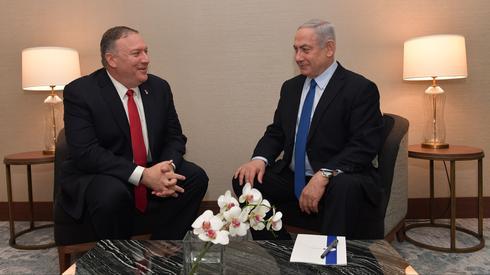 ראש הממשלה בנימין נתניהו הצהרה עם מזכיר המדינה האמריקני מייק פומפאו