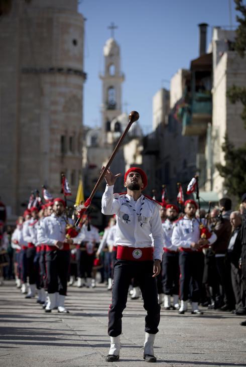 Christmas celebrations at Manger Square in Bethlehem