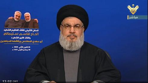 חסן נסראללה נאום חיזבאללה לבנון על חיסול קאסם סולימאני