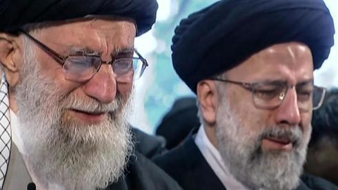 עלי חמינאי טקס הלויה ל סולימאני ב טהרן איראן בוכה