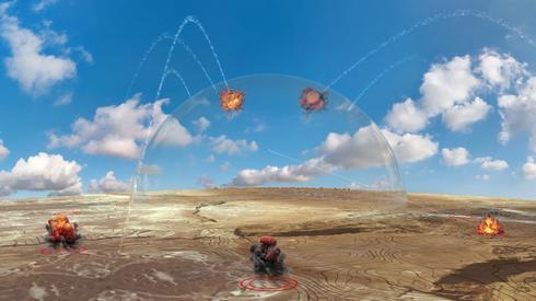 הדמיית פעילות לייזר ליירוט רקטות וטילים