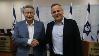 Labor leader Amir Peretz and Meretz chair Nitzan Horowitz announce their joint run in the March 2 elections