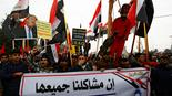 Iraqis in Baghdad protest the American presence in their country