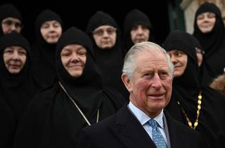 Charles, Prince of Wales visits the Church of Mary Magdalene on the Mount of Olives in Jerusalem, Jan. 24, 2020