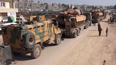 שיירה של צבא טורקיה מחוז אידליב סוריה