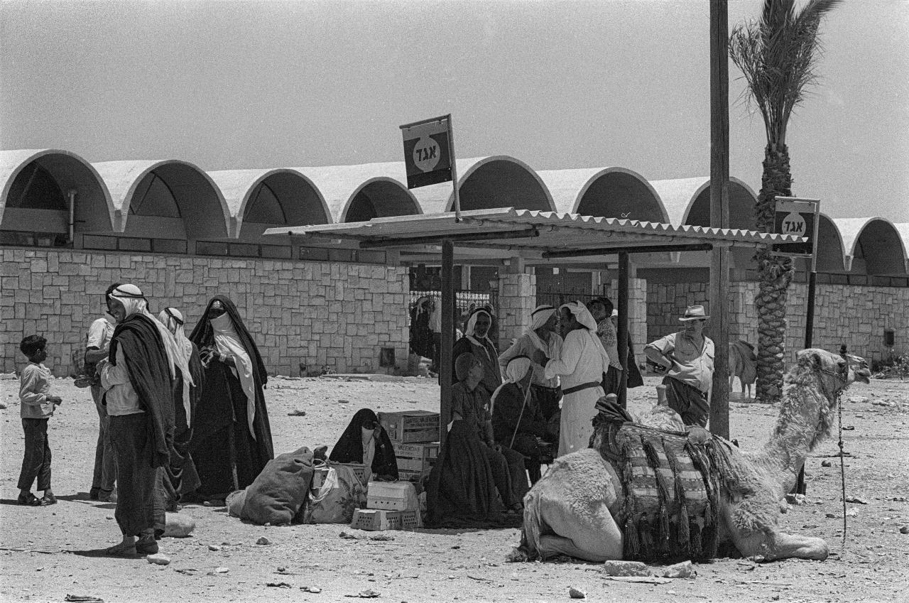 An image of an old central bus station in Be'er Sheva