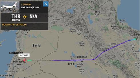 מטוס הקרגו 747 האירני שפועל עבור משמרות המהפכה המריא מטהרן לדמשק
