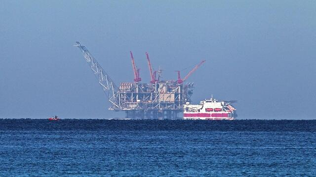 Leviathan gas rig off the coast of Israel
