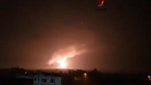 """יירוט טיל טילים תקיפה סוריה דמשק אמל""""ח אמצעי לחימה"""