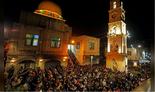 Palestinians attend the Fajr (dawn) prayer at Al-Nasir mosque in Nablus