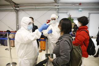 Travelers tested for coronavirus at Ben-Gurion Airport