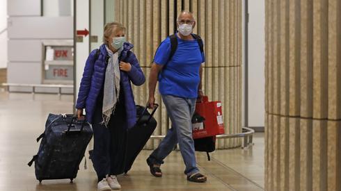 Passengers arriving at Ben Gurion Airport on Thursday