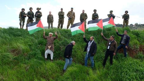 הפגנת פלסטינים מושב בקעות בקעת הירדן