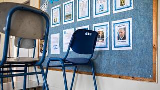 Пустой класс в закрытой школе. Фото: AP