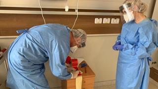 """Отделение коронавируса в больнице """"Меир"""" в Кфар-Сабе. Фото: Рои Рубинштейн"""
