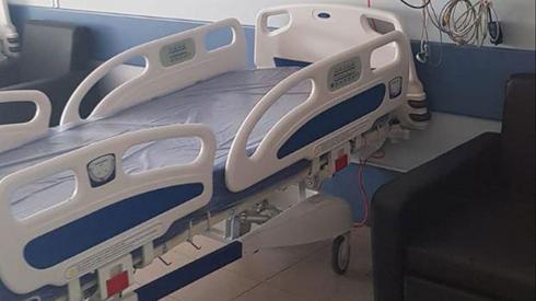 מיטות לחולי קורונה בבית החולים סנט וינסנט בנצרת