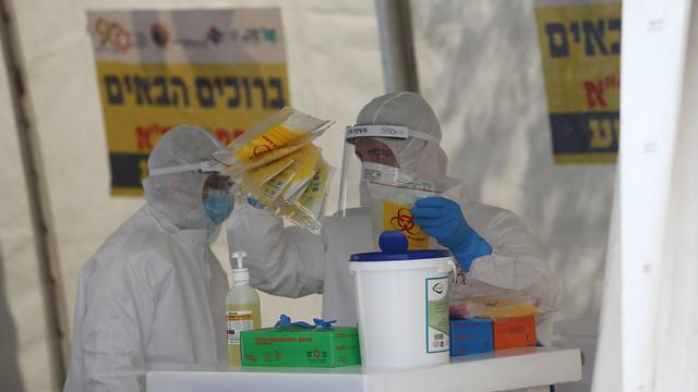 Станция приема анализов на коронавирус в Иерусалиме. Фото: Алекс Коломойский