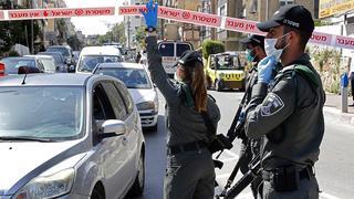 Режим ограниченного доступа в Бней-Браке. Фото: AFP