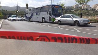 A police blockade outside Beit Alit