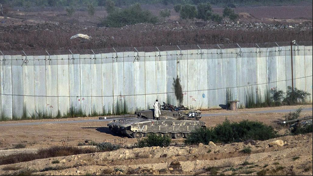 The border wall between Gaza and Israel
