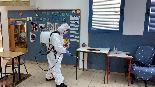 """חיטוי בבית ספר """"גיל"""" בחיפה בצל התפשטות  נגיף הקורונה"""
