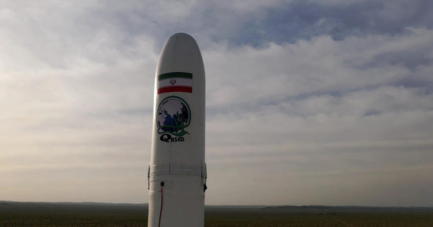Iranian rocket carrying a satellite before its launch