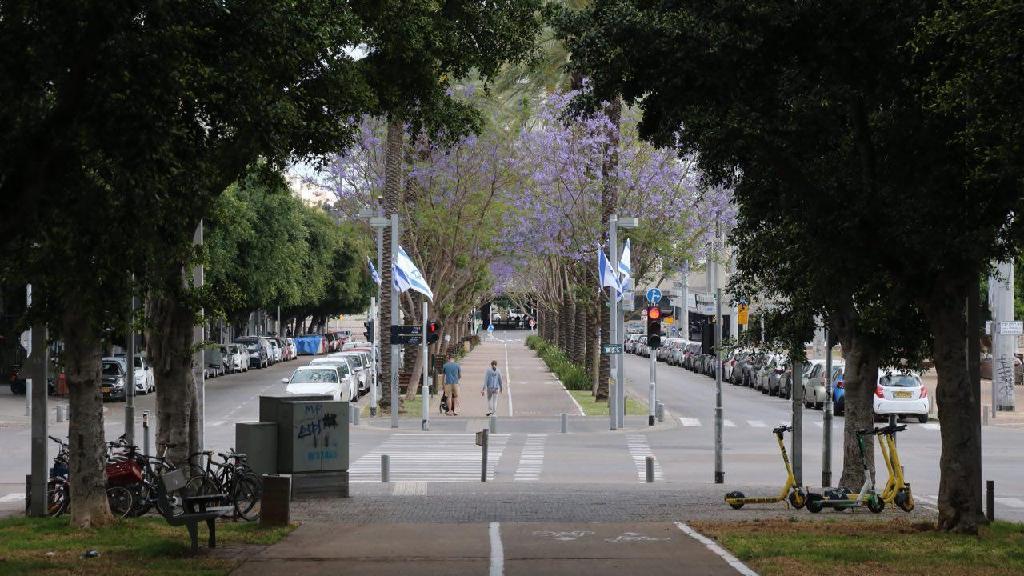 רחובות ריקים בתל אביב