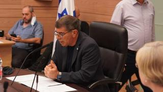 MK Gabi Ashkenazi chairs a meeting of the Knesset Foreign Affairs and Defense Committee