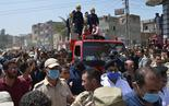 Funeral in Demshlet village of Egyptian military officer killed in clash with IS forces in Sinai on Thursday