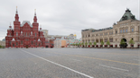 Moscow's Red Square empty due to coronavirus restrictions