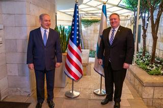 Benjamin Netanyahu and Mike Pompeo meeting in Jerusalem last week
