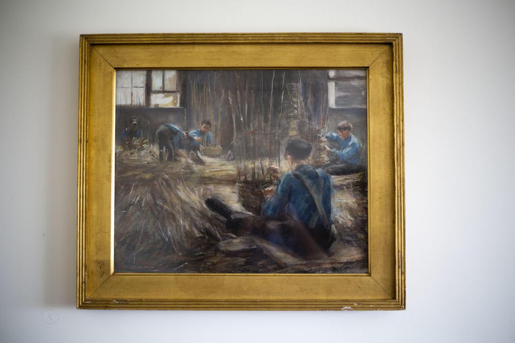 """""""Basket Weavers"""" a recovered work of art looted by Nazis"""
