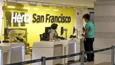 סניף הרץ בנמל התעופה של סן פרנסיסקו